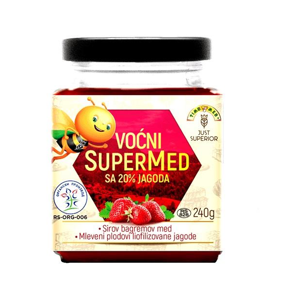 Voćni supermed sa jagodom organic 240g