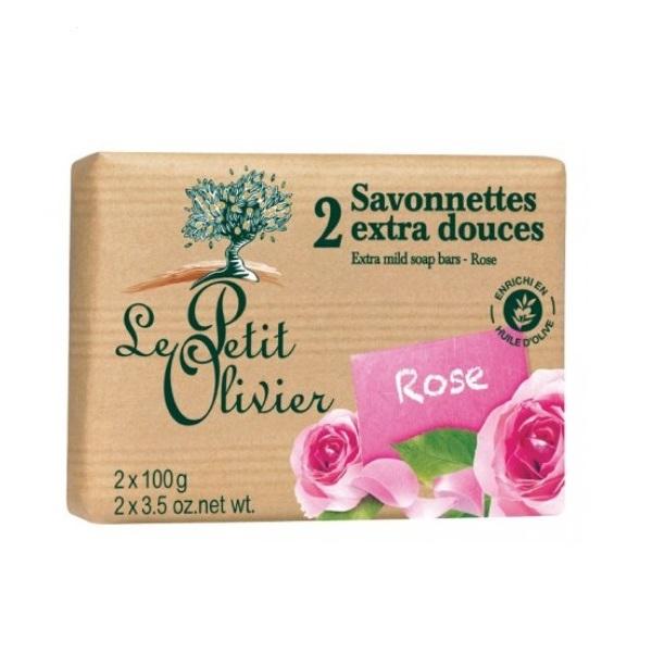 Le Petit Olivier Blagi sapun ruža 2 kom 100g