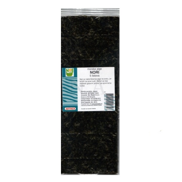Alge Nori 5 listova Mitoku 12,5g