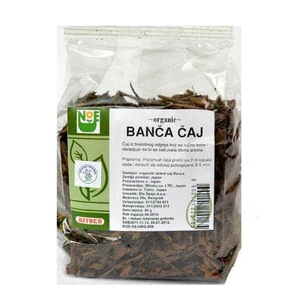 Banča čaj organic Mitoku 50g