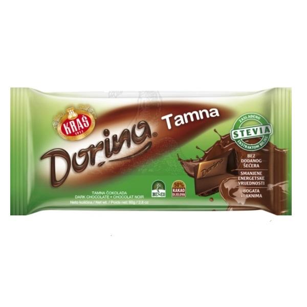 Tamna čokolada Dorina Kraš bez šećera 80g