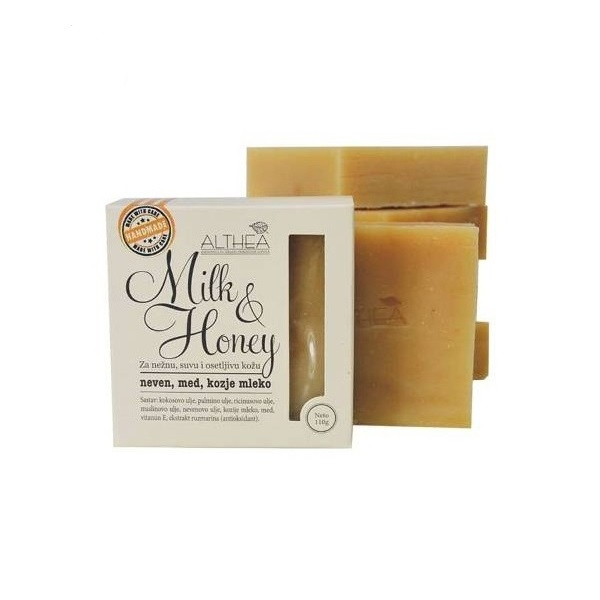 ALTHEA – Milk & Honey sapun 110g