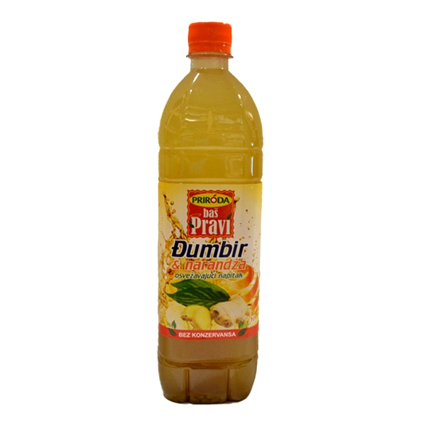 Pravi sok Đumbir i narandža 1l