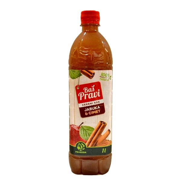 Pravi sok od jabuke i cimeta 1l