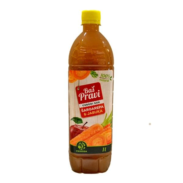 Pravi sok od jabuke i šargarepe 1l