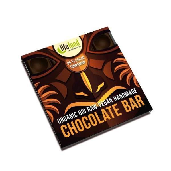 Sirova organska čokolada 95% kakao i cimet 35g