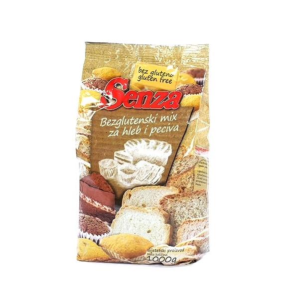 Senza Mix za hleb i peciva bez glutena 1 kg