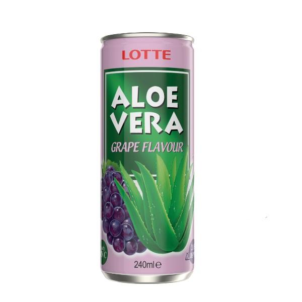 Aloe vera sa ukusom grožđa Lotte 240ml