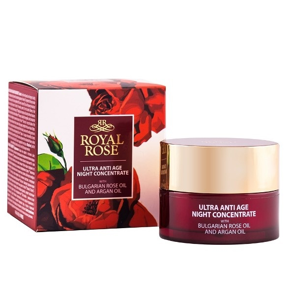 Royal Rose Ultra anti age noćni koncentrat sa arganovim i ružinim uljem 40 ml