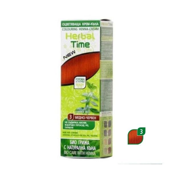 Herbal Time Kana za kosu  u gelu  3 medeno crvena 75 ml