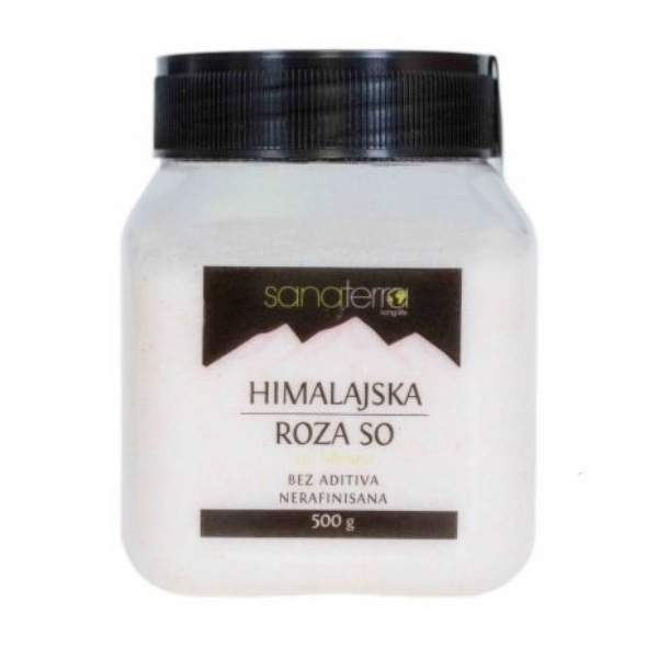 Himalajska roza so  mlevena jodirana Sanaterra 500g