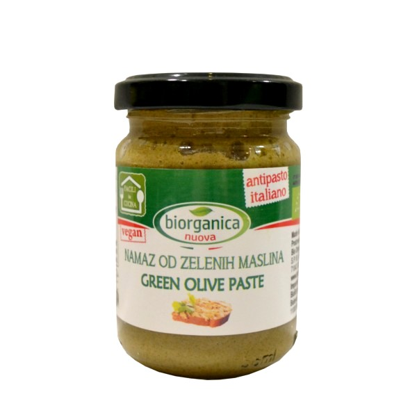 Namaz od zelenih maslina organic 140g