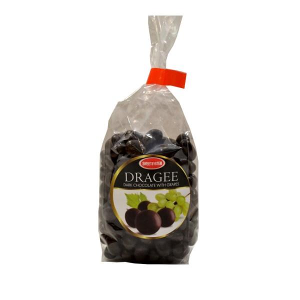 Draže crna čokolada suvo grožđe 100g
