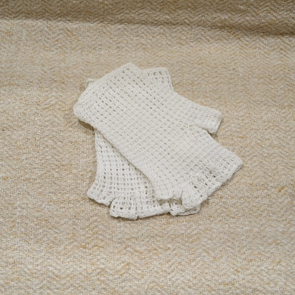 Rukavice bele pamučne bez prstiju
