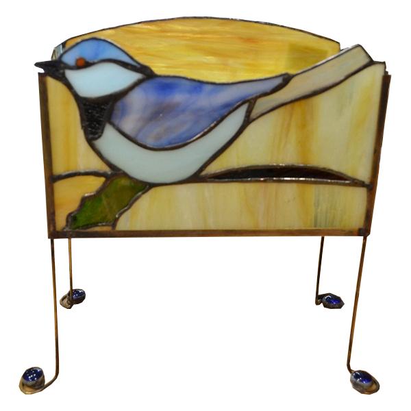 Vitraž stona lampa ptica