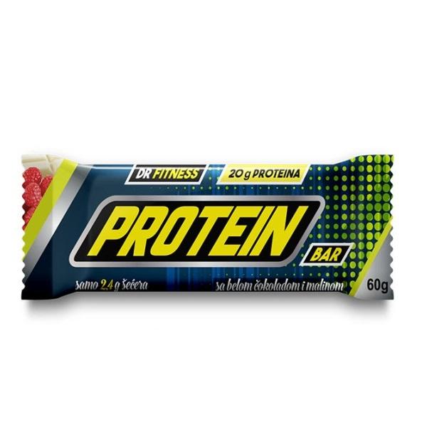 Protein bar bela čokolada - malina Dr. Fitness 60g