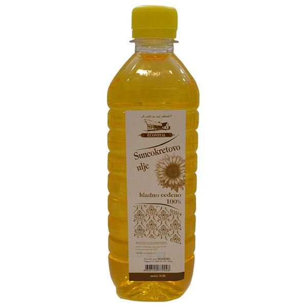 Suncokretovo hladno ceđeno ulje Ecovital 500ml