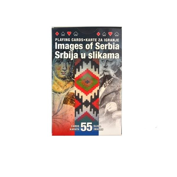 Špil karata za igru Srbija u slikama suvenir