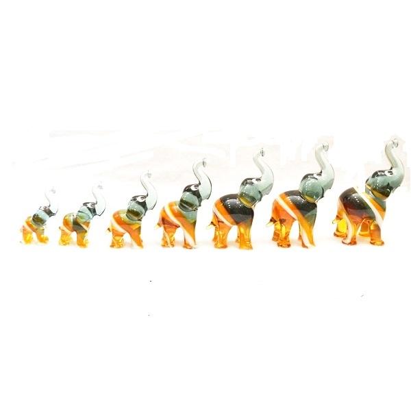 Slonovi od murano stakla 7 komada