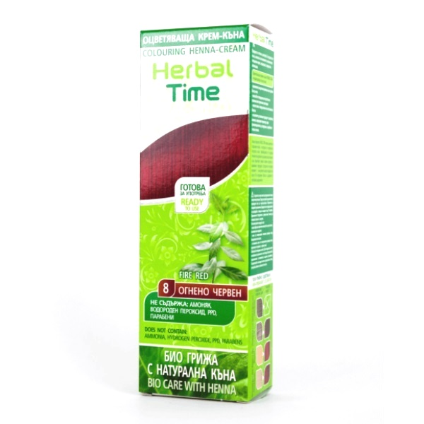 Herbal Time Kana u gelu 8 vatreno crvena 75ml