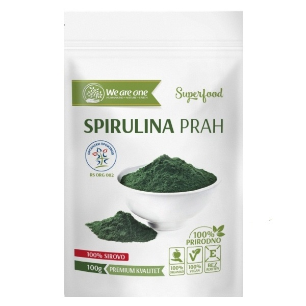 Spirulina prah organic We are one 100g
