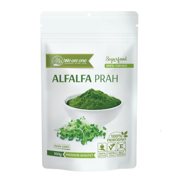 Alfalfa prah organic We are one 100g