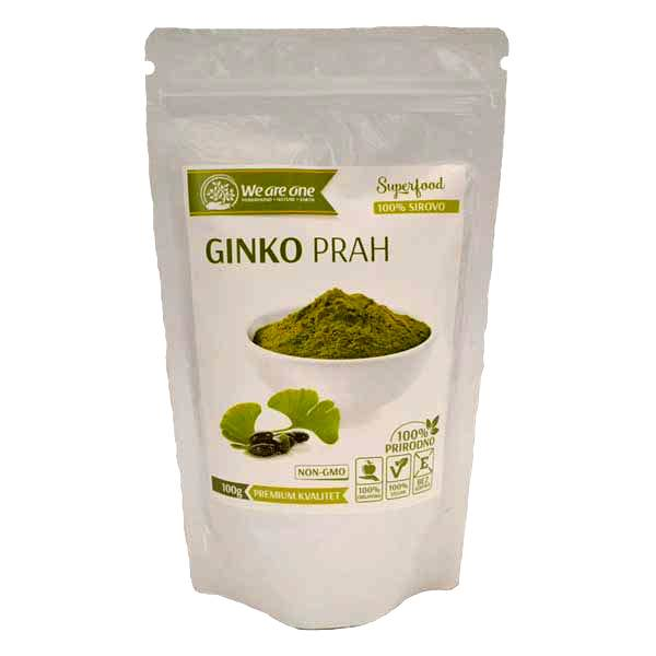 Ginko prah organic We are one 100g