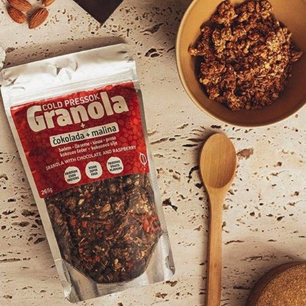 Granola malina i čokolada Cold Pressok 260g
