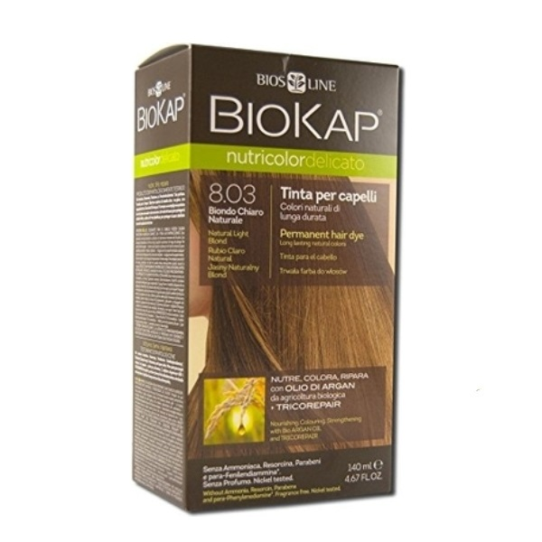 BioKap Delicato + Farba za kosu 8.03 prirodno svetlo plava 140ml