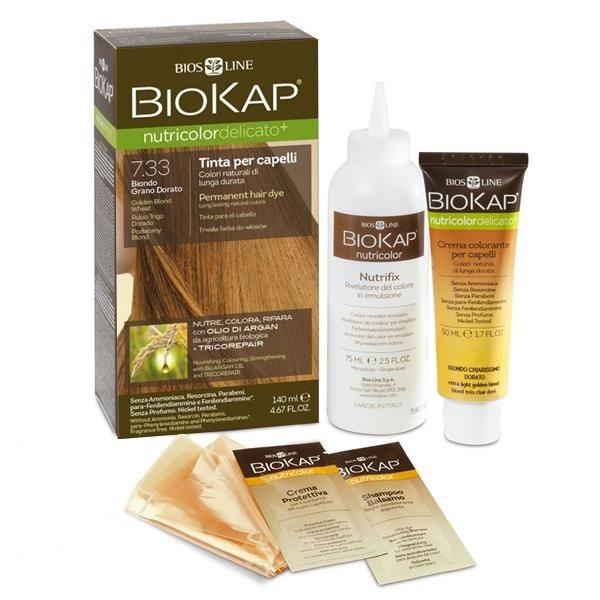 BioKap Delicato + Farba za kosu 7.33 zlatno plava 140ml