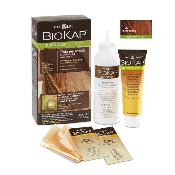 BioKap Delicato + Farba za kosu 8.64 ticijan crvena 140ml