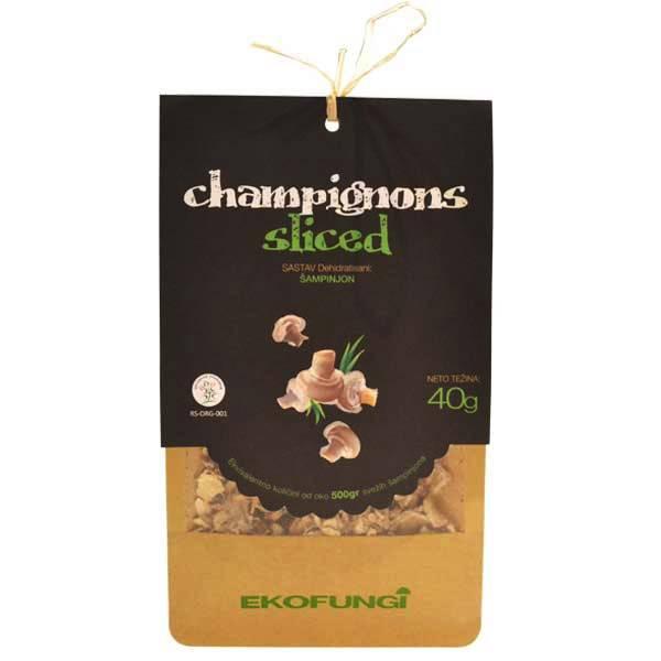 Champignons sliced - šampinjoni organic Ekofungi 40g