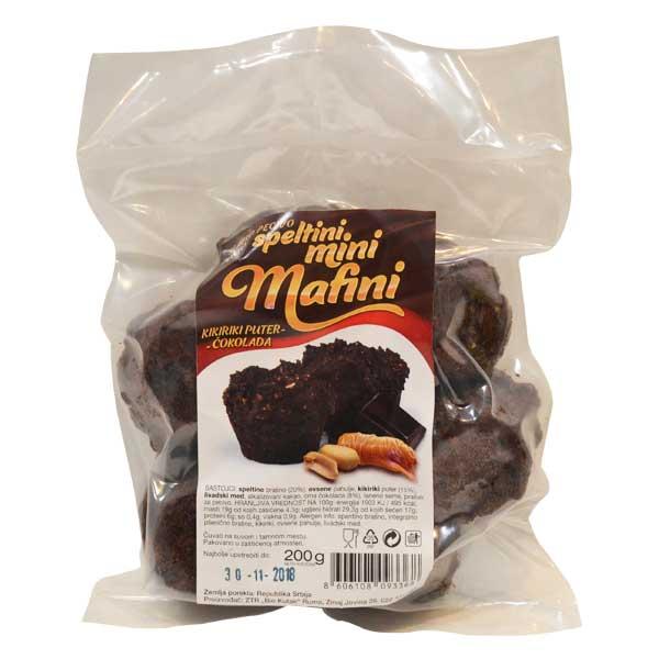 Mini mafini kikiriki puter i čokolada Bio Kutak 200g