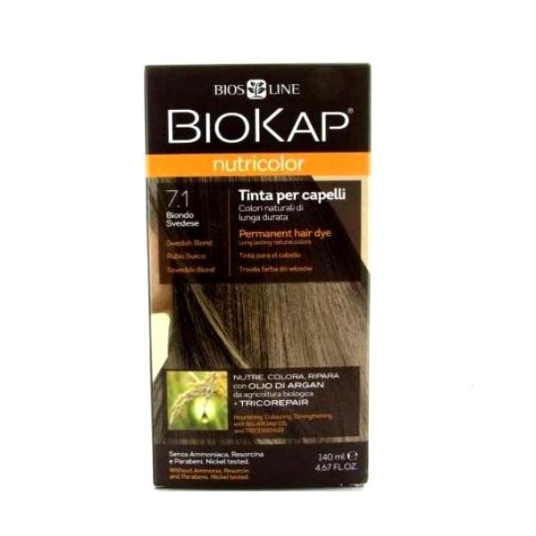 BioKap Farba za kosu 7.1 švedsko plava 140ml