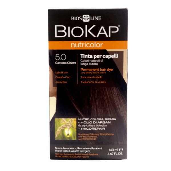 BioKap Farba za kosu 5.0 svetlo smeđa 140ml
