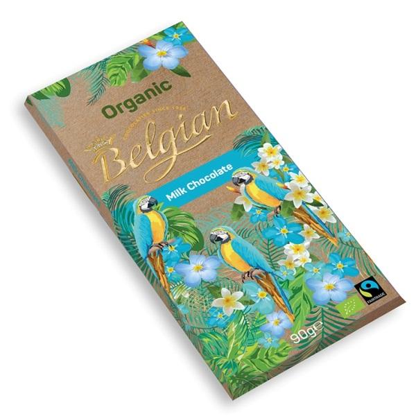 Mlečna čokolada organic The Belgian 90g