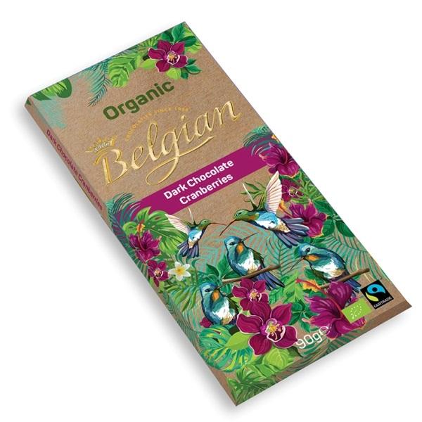 Tamna čokolada sa brusnicom organic The Belgian 90g