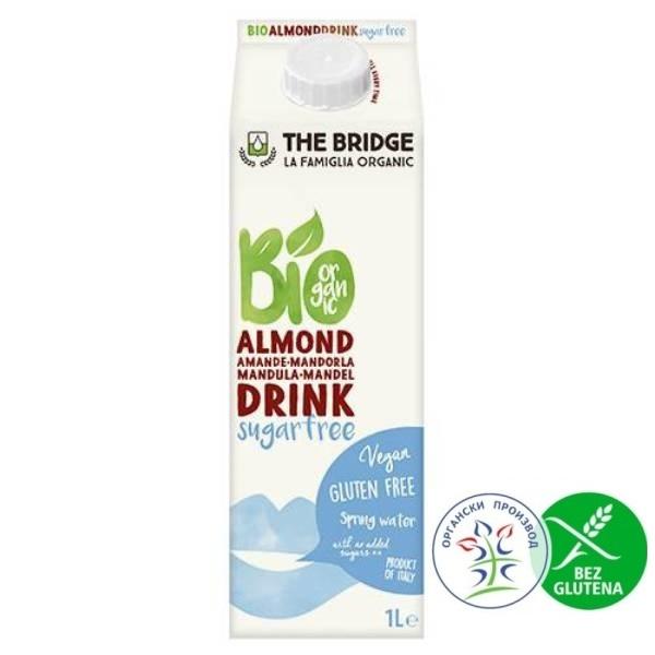 Organski napitak od badema bez šećera  i bez glutenaThe Bridge 1l
