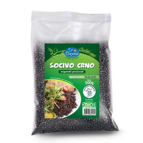 Crno sočivo organic Beyond 500g