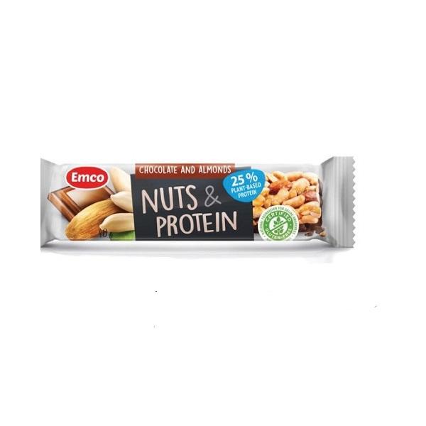 Proteinski bar čokolada i badem Emco 40g