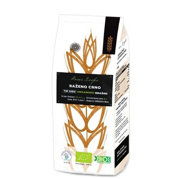 Ražano crno organsko brašno tip 1250 Naše Dobro 1kg