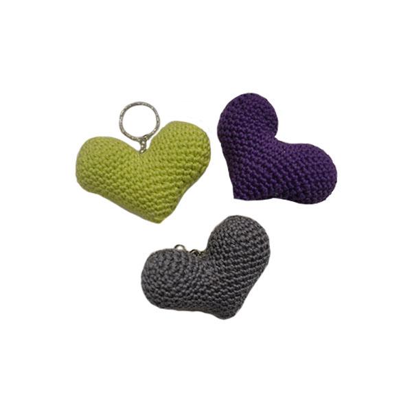 Privezak za ključeve u obliku srca pleteni