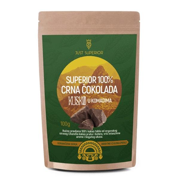 Crna čokolada u komadima Kusko Just Superior 100g