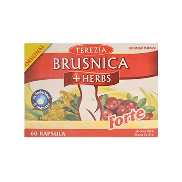 Brusnica + Herbs forte kapsule 60 komada
