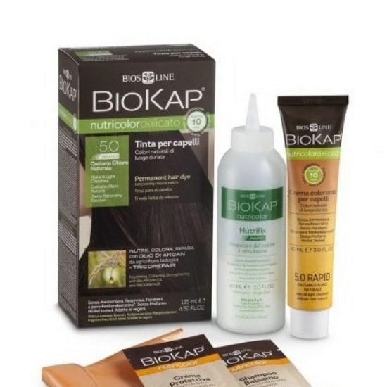 BioKap Delikato rapid Farba za kosu 5.0 svetlo smeđa 135ml