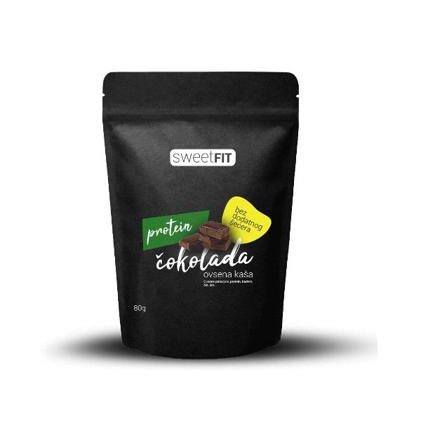Proteinska ovsena kaša čokolada Sweetfit 80g
