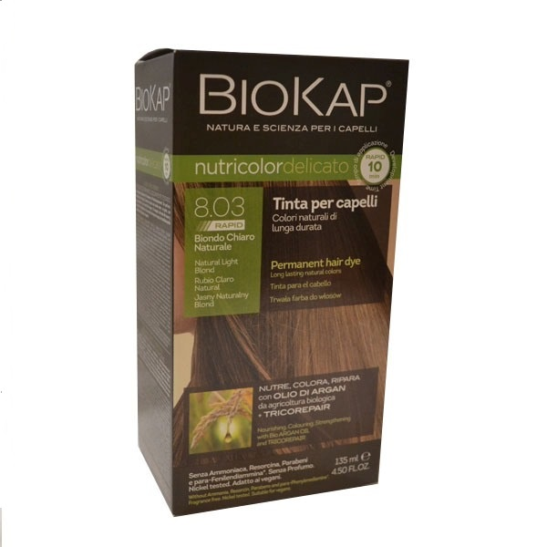 BioKap Delicato rapid  Farba za kosu 8.03 prirodno svetlo plava 135ml