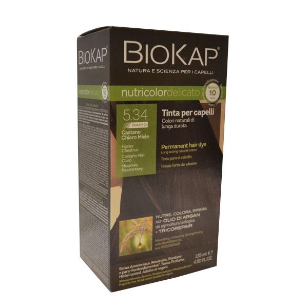 BioKap Delicato rapid Farba za kosu 5.34 kestenjasta 135ml