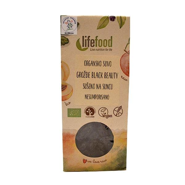 Organsko suvo crno grožđe LifeFood 100g