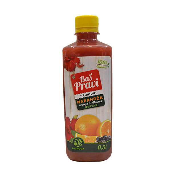 Pravi sok narandža, aronija i hibiskus 500ml